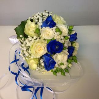 Bouquet sposa in blu